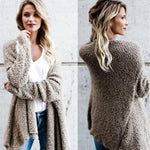 HOT Women's Long Oversized Loose Knitted Sweater Cardigan Outwear Coat Top