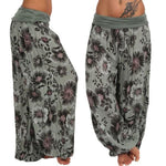 Casual Print Wide Leg Loose Harem Pants