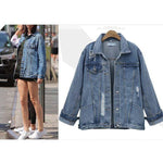 Loose Hole Denim Jacket