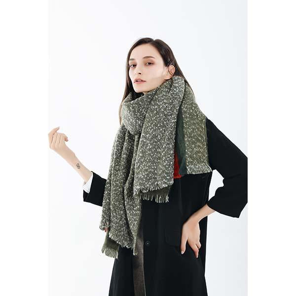 Striped Autumn And Winter Warm Thick Scarf