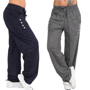 Casual Loose High Waist Bottoming Sports Trousers