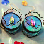 Handmade Electro-optic Eye Exaggerated Stylish Laser Earrings