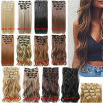 Invisible Wire Curly Full Head Clip in Synthetic Hair Extensions