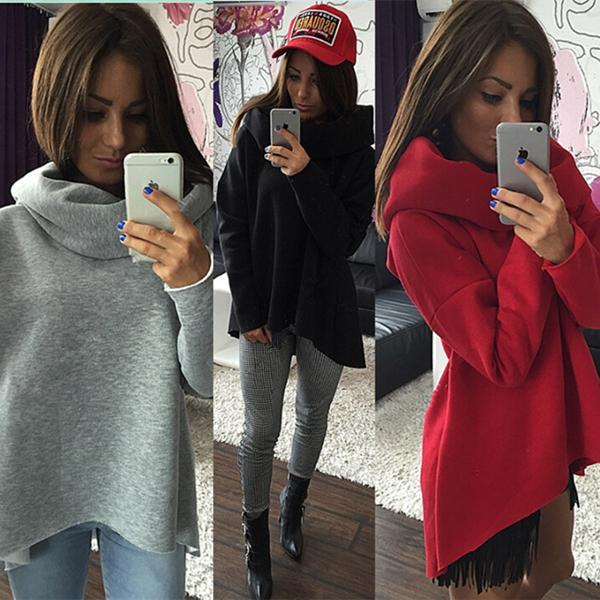 Irregular Scarf Collar Sweater