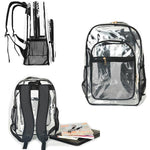 Heavy Duty Large Clear Bookbag Stadium Approved Transparent Bag