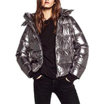 Metallic Silver Down Jacket