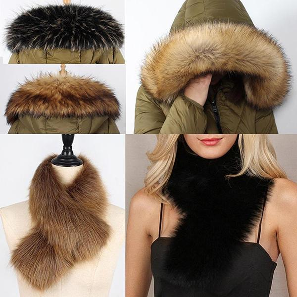 Fashion Women Multi-function Artificial Fur Charm Collar Accessories
