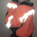Women Zip Up Jacket with Reflective tape