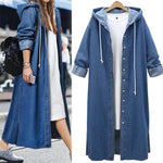 Casual Hoodie Denim Buttoned Coats &Jacket