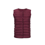 Lightweight Portable Crew Neck V-neck Down Vest