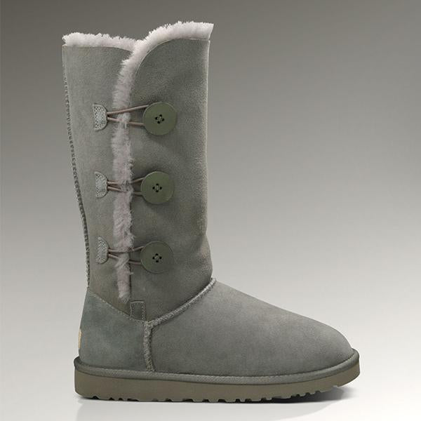 Cowhide Triplet Bailey Button Wool High Snow Boots