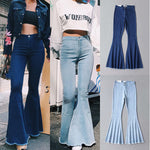 High Waist Bell Bottoms Flared Denim Pants