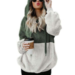 Hooded Plush Pullover