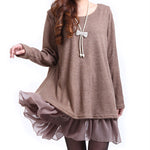Casual Jumpers Knit Ladies Sweaters Evening Party Bow Dresses