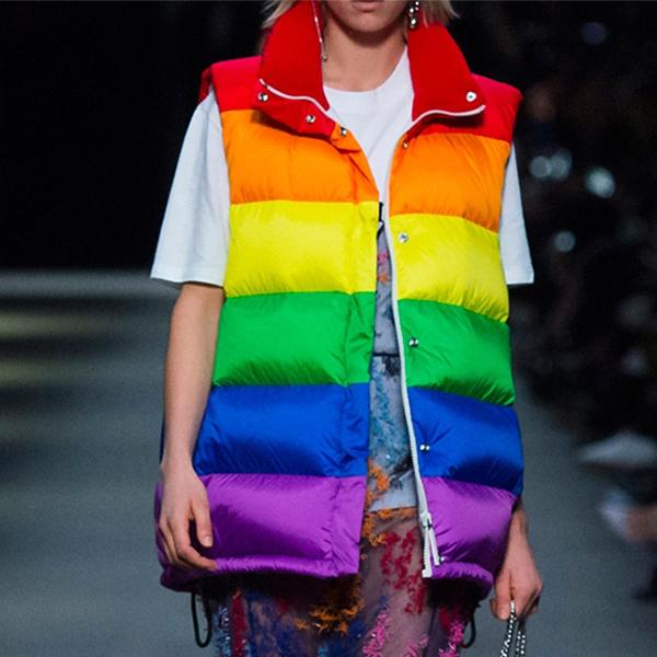 Rainbow Shell-down Gilet