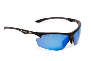 Hawaii1 Performance Sunglasses Matte Black with Polarized Grey Lenses
