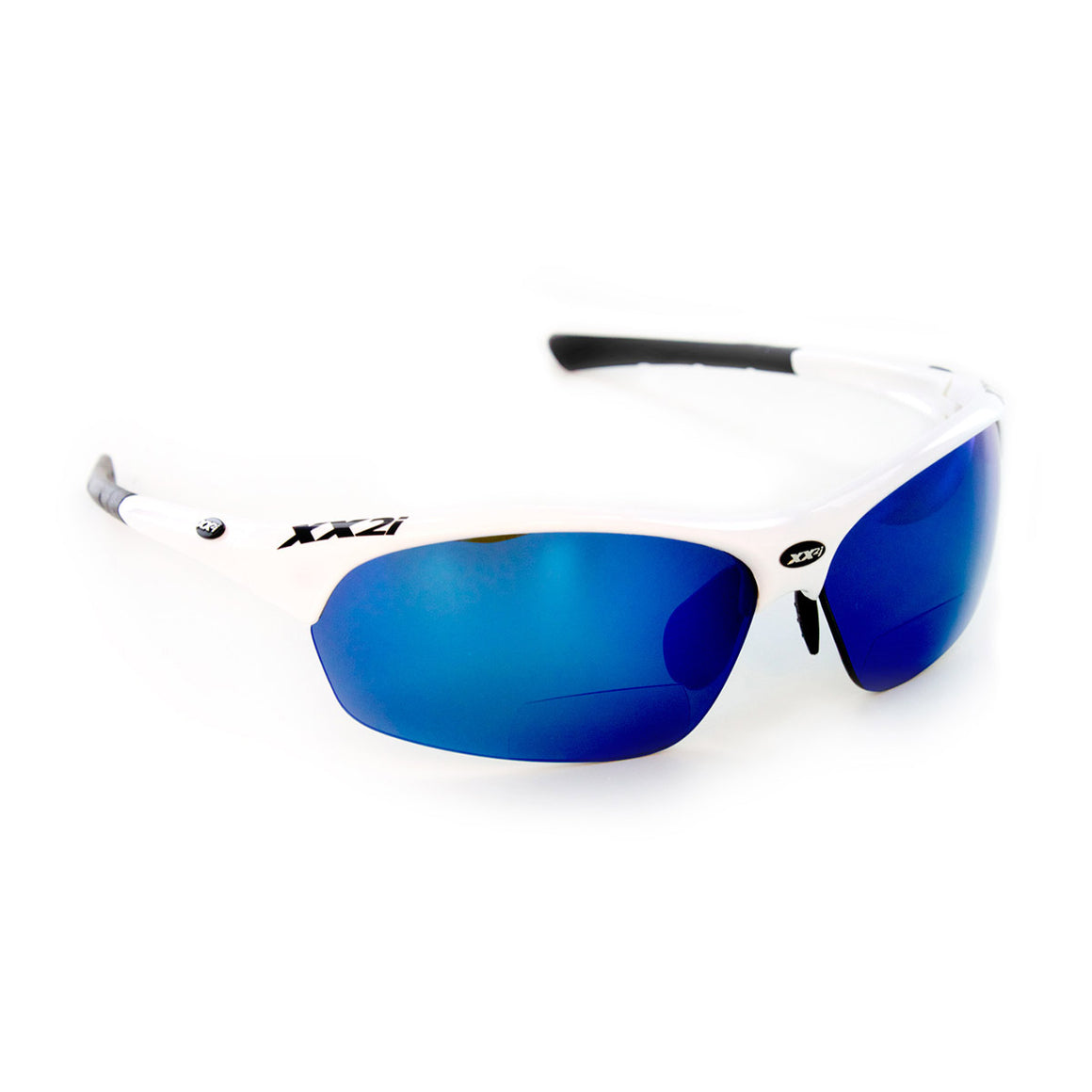 France1 White Gloss Polarized Sport Reader
