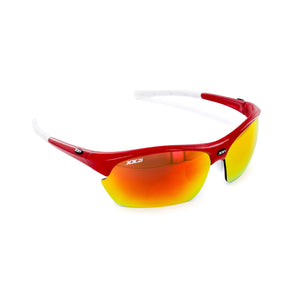 France2 Performance Sunglasses Fire Engine Red with Flash Lens
