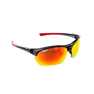 France2 Performance Sunglasses Black Onyx with Red Flash Lens
