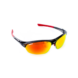 France1 Performance Sunglasses Black Onyx with Red Flash Lens