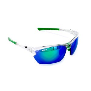 France2 Performance Sunglasses Crystal with Green Flash Lens