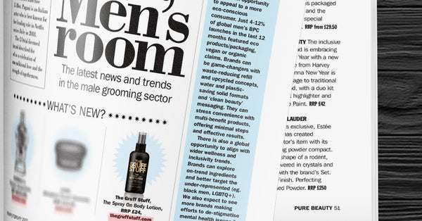 Pure Beauty magazine features The Gruff Stuff... again