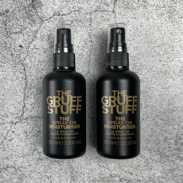 THE GRUFF STUFF THE SPRAY ON MOISTURISER DUO