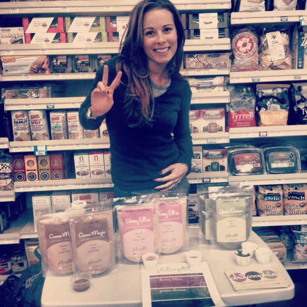 Philosophie mama of Philosophie Superfoods - demo in Mother's Market