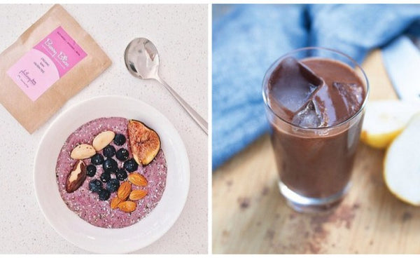 philosophie mama superfoods and protein powder - berry bliss cacao magic green dream