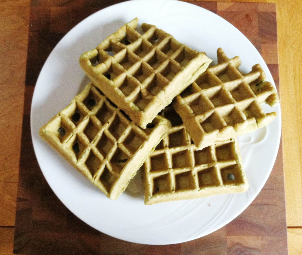 Green Dream Waffles- glutenfree, paleo