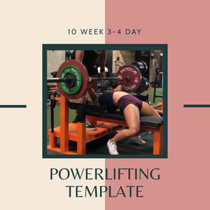 10 Week Powerlifting Template Program (3-4 Days)