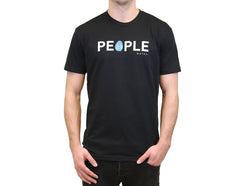 "Men's Black ""Classic People Water"" T"