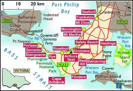 Mornington Peninsula Map