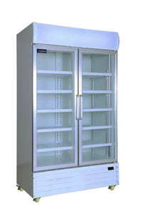 2 Glass Door PREMIUM refrigerator CRUSADER CCE1130 with 3 year warranty - Cambridge Commercial Equipment