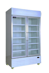 2 Glass Door PREMIUM refrigerator CRUSADER CCE1130 with 3 year warranty