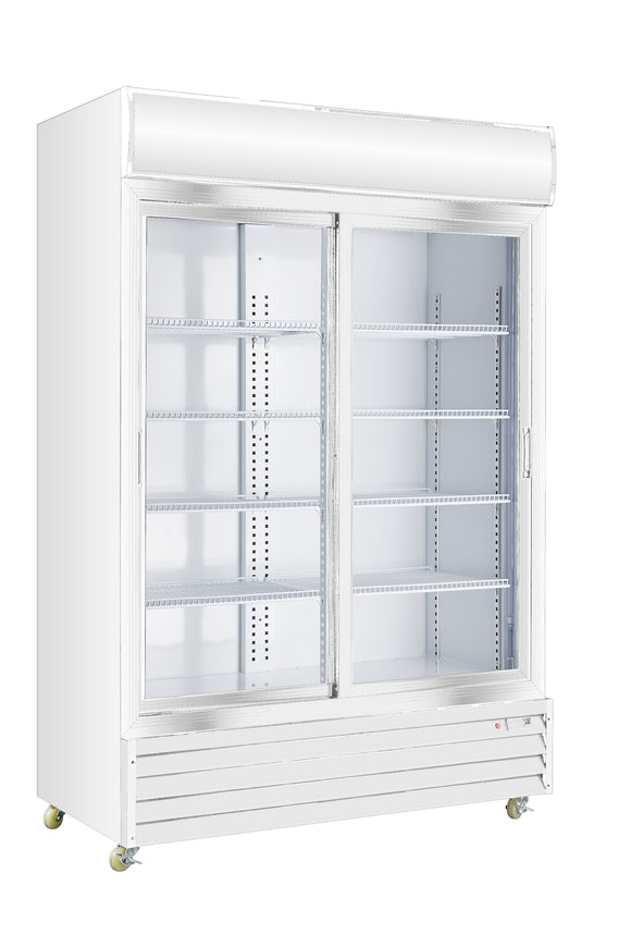 2 Sliding Glass Door PREMIUM refrigerator CRUSADER CCE1130S - Cambridge Commercial Equipment