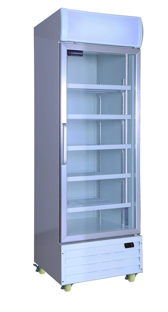 1 One Glass Door CRUSADER CCE605 Fridge Refrigerator 430 Lts - Cambridge Commercial Equipment