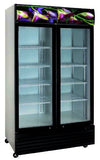 2 Glass Door CRUSADER PREMIUM Flower Refrigerator 1000 Lts - Cambridge Commercial Equipment