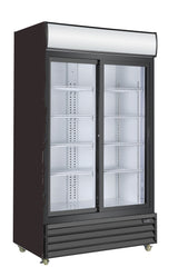 2 Sliding Glass Door PREMIUM refrigerator CRUSADER CCE1130S BLACK