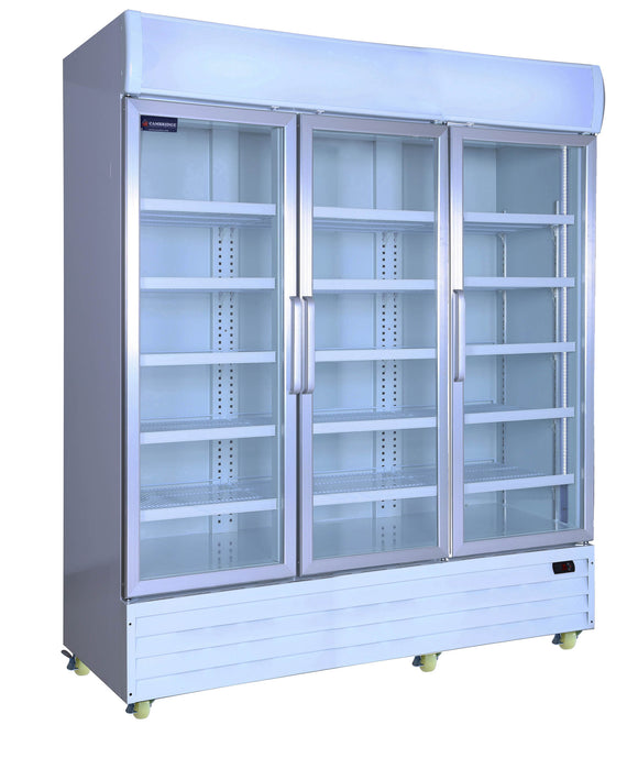 3 Glass Door PREMIUM refrigerator CRUSADER CCE1630 - Cambridge Commercial Equipment