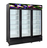 3 Glass Door PREMIUM Flower Refrigerator 1500 Lts - Cambridge Commercial Equipment