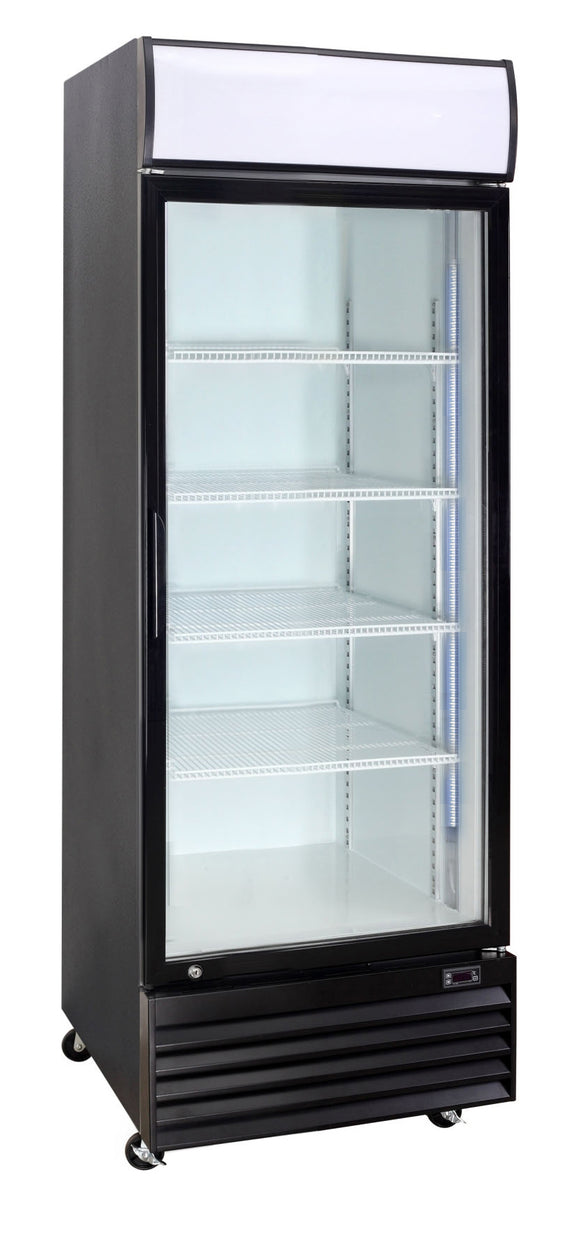 1 Glass Door  Refrigerator 430 Lts  CRUSADER CCE605 BLACK - Cambridge Commercial Equipment