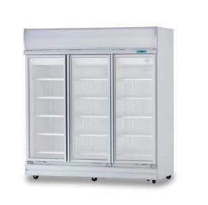 3 Glass Door Fridge Premium Refrigerator for C-Store - Cambridge Commercial Equipment