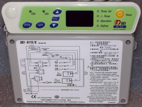 DEI815E Electronic Thermostat for Glass Door Ruey Shing Freezer ( RS-815)
