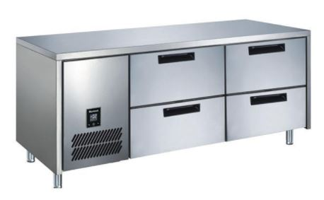 4 Drawer CONQUEST MPW6T2NN GN PREMIUM Underbar Refrigerator - Cambridge Commercial Equipment