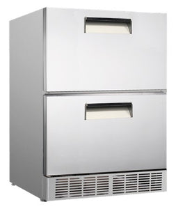 2 Drawer CONQUEST CCE160SD Underbar Refrigerator - Cambridge Commercial Equipment