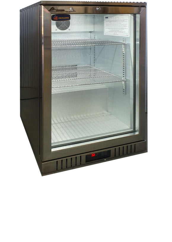 1 Glass Door Backbar Refrigerator CCE138SS - Cambridge Commercial Equipment