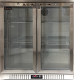 2 Glass Door Backbar Refrigerator CCE208SS - Cambridge Commercial Equipment