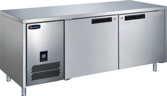 2 Solid Door CONQUEST LPW6T2HH GN PREMIUM Underbar Freezer - Cambridge Commercial Equipment