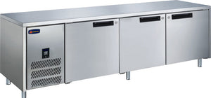 3 Solid Door CONQUEST LPW6T3HHH GN PREMIUM Underbar Freezer - Cambridge Commercial Equipment